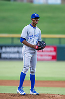 AZL Royals starting pitcher Marlin Willis (28) delivers a pitch to the plate against the AZL Cubs on July 19, 2017 at Sloan Park in Mesa, Arizona. AZL Cubs defeated the AZL Royals 5-4. (Zachary Lucy/Four Seam Images)