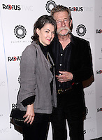 NEW YORK, NY - JUNE 24 : John Hurt  and Wife  Anwen Rees-Myers pictured at the Premiere of premiere of RADiUS-TWC's SNOWPIERCER at MOMA in New York City, June 24, 2014 in New York City.© HP/ Starlitepics.