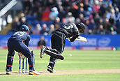 Jun 6th, The SSE SWALEC, Cardiff, Wales; ICC Champions Trophy; England versus New Zealand; Ross Taylor of New Zealand hits a 4