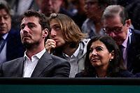 3rd November 2019, AccorHotels Arena, Bercy, Paris, France; Rolex Paris masters Tennis tournament, finals day;  Marat Safin  and Anne Hidalgo - maire de Paris