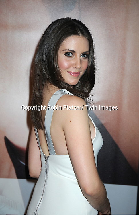 """actress Alison Brie arrives to The World Premiere of """" The Five-Year Engagement"""" at the opening night of The Tribeca Film Festival at the Ziegfeld Theatre in New York City on ..April 18, 2012."""