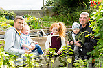 Enjoying the Annual Harvest Day at Shanakill/Rathoonane Comunity Organic Garden on Saturday were Kevin Quirke,  Lilly Ann Quirke, Jodie O'Driscoll, Brendan Coffey and Lincoln Coffey