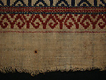 Fine old ceremonial textile 'Tampan' from Lampung, Sumatra island. Dimensions: 70 x 62 cm.
