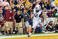 Landover, MD - SEPT 3, 2017: West Virginia Mountaineers wide receiver Gary Jennings (12) celebrates a touchdown during game between West Virginia and Virginia Tech at FedEx Field in Landover, MD. (Photo by Phil Peters/Media Images International)
