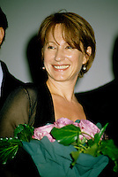 Montreal (Qc) CANADA -1998 File Photo -<br /> Nathalie Baye on the opening of the World Film Festival.<br /> <br /> Nathalie Baye (born July 6, 1948) is a four-time Cesar award-winning French actress. Also she has been nominated a further five times.<br /> <br /> Baye was born in Mainneville, Eure, Normandy. At the age of fourteen she started her artistic career by joining a school of dance in Monaco. Three years later she went to the United States to sample a new world and new culture. On returning to France, she continued with dance but in parallel registered for the Simon Course for the Academy where she graduated in 1972 with a second prise in comedy, dramatic comedy and foreign theatre.<br /> <br /> [edit] Career<br /> <br /> Her first cinema appearance was in Two People by Robert Wise. Then she rose to fame as the 'script girl' in La Nuit am??ricaine (Day for Night) by Fran??ois Truffaut. Throughout the 1970s she played the roles of good girlfriend and nice provincial in both film and television.<br /> <br /> In 1981 she won her first C??sar, for best supporting artist in Sauve qui peut (la vie) by Jean-Luc Godard. There then followed an impressive sequence of success and rise to stardom with Le Retour de Martin Guerre and La Balance.<br /> <br /> She became one of the most popular and renowned French actresses, gaining two more C??sars (Best Supporting Female for A Strange Affair, and Best Actress in 1982 for La Balance. Her 4 year relationship with Johnny Hallyday made them a leading celebrity couple and their daughter Laura is now actress Laura Smet.<br /> <br /> After changing her image by playing the part of a streetwalker in La Balance, she further widened her scope with more obscure characters in J'ai ??pous?? une ombre and En toute innocence. In 1986 she returned to the theatre with an interpretation of Adriana Monti.<br /> <br /> 1999 started a glittering year as she was voted Best Supporting Actress at Venice Film Festival for Une liaison pornographique and in 2000 starred in the multi-award winning film V??nus Beaut?? (Institut) by Tonie Marshall<br /> <br /> S