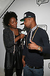 Makho Ndlovu Interviews Juelz Santana for Global Grind at Angela Simmons I Am Presentation Powered Monster at 404 During Mercedes-Benz Fashion Week Fall 2014 NY