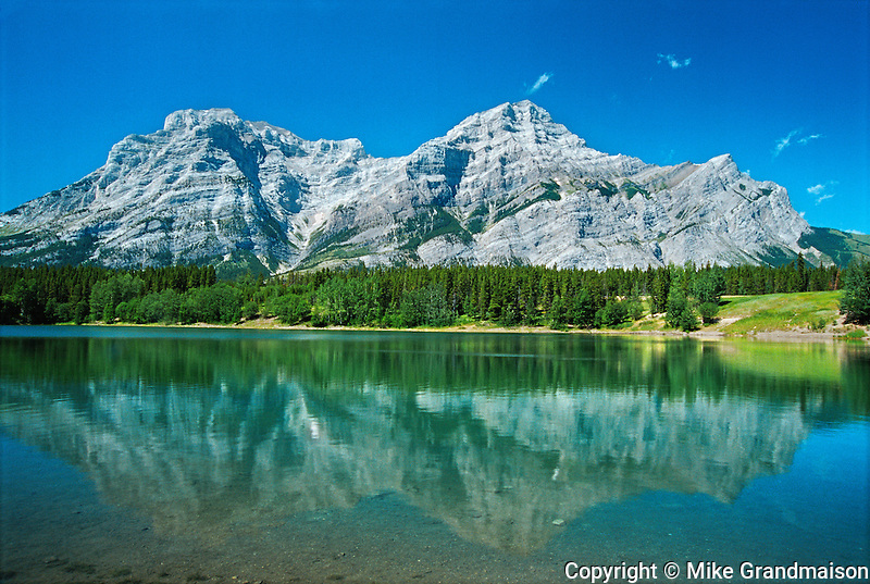 Wedge Pond reflection. Kananaskis Country<br /> Kananaskis Country<br /> Alberta<br /> Canada