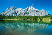 Wedge Pond reflection. Kananaskis Country<br /> Kananaskis Country<br /> Alberta<br /> Canada