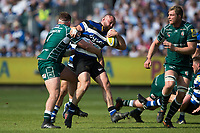Tom Dunn of Bath Rugby is tackled in possession. Aviva Premiership match, between Bath Rugby and London Irish on May 5, 2018 at the Recreation Ground in Bath, England. Photo by: Patrick Khachfe / Onside Images