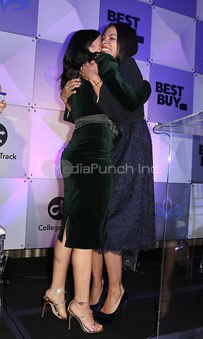 LOS ANGELES, CA - NOVEMBER 8: Gina Rodriguez, Rosario Dawson, at the Eva Longoria Foundation Dinner Gala honoring Zoe Saldana and Gina Rodriguez at The Four Seasons Beverly Hills in Los Angeles, California on November 8, 2018. Credit: Faye Sadou/MediaPunch