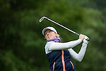 Hannah Burke of England tees off during Round 1 of the World Ladies Championship 2016 on 10 March 2016 at Mission Hills Olazabal Golf Course in Dongguan, China. Photo by Victor Fraile / Power Sport Images
