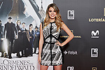 Nerea Rodriguez attends to Fantastic Beasts: The Crimes of Grindelwald film premiere during the Madrid Premiere Week at Kinepolis in Pozuelo de Alarcon, Spain. November 15, 2018. (ALTERPHOTOS/A. Perez Meca)