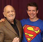 Charles Strouse and Dominic Wintz during the Children's Theatre of Cincinnati presentation for composer Charles Strouse of 'Superman The Musical' at Ripley Grier Studios on June 8, 2018 in New York City.