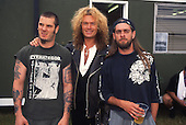 Pantera - L-R: Phil Anselmo, Glenn Hughes and Rex Brown - backstage at the Monsters of Rock festival at Castle Donington Leicestershire UK - 04 Jun 1994.  Photo credit: George Chin/IconicPix