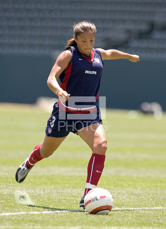 Lorrie Fair. The USA defeated Iceland, 3-0, at the Home Depot Center in Carson, CA on July 24, 2005.