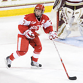 Lauren Cherewyk (BU - 7) - The Boston College Eagles defeated the Boston University Terriers 2-1 in the opening round of the Beanpot on Tuesday, February 8, 2011, at Conte Forum in Chestnut Hill, Massachusetts.