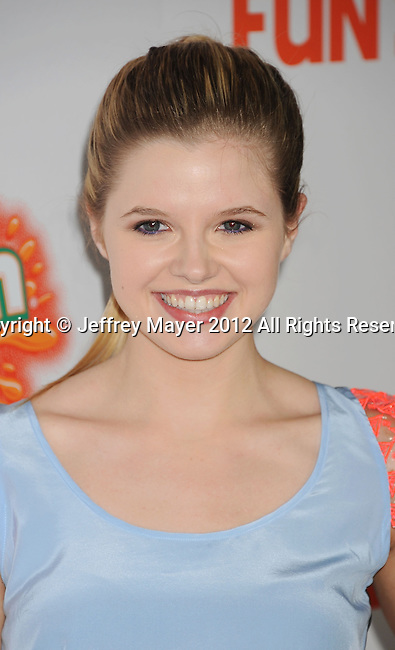HOLLYWOOD, CA - OCTOBER 25: Ana Mulvoy-Ten arrives at the Los Angeles premiere of 'Fun Size' at Paramount Studios on October 25, 2012 in Hollywood, California.