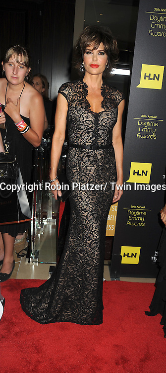 Lisa Rinna in Theia dress attends the 39th Annual Daytime Emmy Awards on June 23, 2012 at the Beverly Hilton in Beverly Hills, California. The awards were broadcast on HLN.