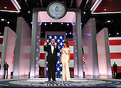 United States President Donald Trump and First Lady Melanie Trump attend the Freedom Inaugural Ball at the Walter E. Washington Convention Center on January 20, 2017 in Washington, D.C.  Trump will attend three inaugural balls.    <br /> Credit: Kevin Dietsch / Pool via CNP