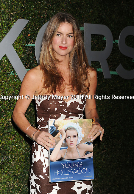 BEVERLY HILLS, CA- OCTOBER 02: Photographer Claiborne Swanson Frank arrives at the Michael Kors Hosts Launch Of Claiborne Swanson Frank's 'Young Hollywood' Portrait Book at a private residence on October 2, 2014 in Beverly Hills, California.