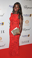 Eniola Aluko at the Lux Afrique gala dinner, Claridge's Hotel, Brook Street, London, England, UK, on Sunday 01 October 2017.<br /> CAP/CAN<br /> &copy;CAN/Capital Pictures