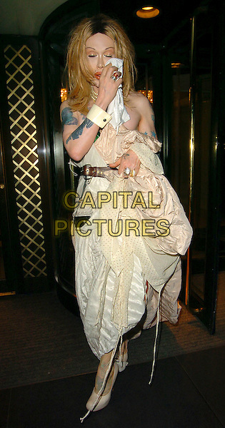 PETE BURNS.At the Miss Great Britain Awards,.Grosvenor House Hotel, London, .25th February 2006..full length wig tattoo tattooes tissue wiping eyes face closed shut funny.Ref: CAN.www.capitalpictures.com.sales@capitalpictures.com.©Capital Pictures