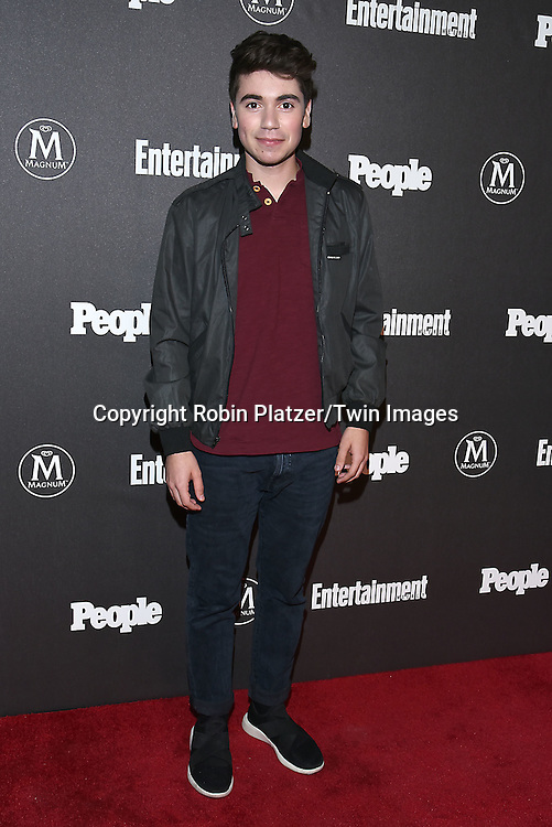 Noah Galvin attends the Entertainment Weekly &amp; PEOPLE Magazine New York Upfronts Celebration on May 16, 2016 at Cedar Lake in New York, New York, USA.<br /> <br /> photo by Robin Platzer/Twin Images<br />  <br /> phone number 212-935-0770
