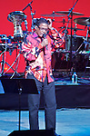 Legendary jazz artist and modern music icon Herbie Hancock performs in concert at the New Jersey Performing Arts Center in Newark, NJ with his band which includes James Genus on bass, Trevor Lawrence on drums and Lionel Loueke on guitar.