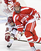 Tommy Atkinson (BC - 28), Max Nicastro (BU - 7) - The Boston College Eagles defeated the visiting Boston University Terriers 5-2 on Saturday, December 4, 2010, at Conte Forum in Chestnut Hill, Massachusetts.