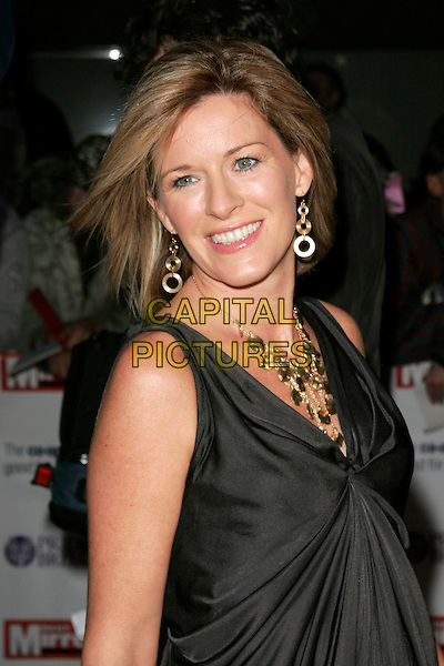 ANDREA CATHERWOOD .The Pride of Britain Awards, London Television Centre, South Bank, London, England, UK, .September 30th, 2008 .half length gold dress necklace black .CAP/AH.©Adam Houghton/Capital Pictures.