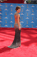 LOS ANGELES - AUG 29:  Maria Menounos arrives at the 2010 Emmy Awards at Nokia Theater at LA Live on August 29, 2010 in Los Angeles, CA