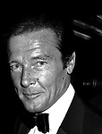 Roger Moore Attending Friars Club Roast at the waldorf Astoria Hotel, New York City on <br />