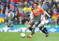 Swansea City's Connor Roberts under pressure from Blackburn Rovers' Amari'i Bell<br /> <br /> Photographer Kevin Barnes/CameraSport<br /> <br /> The EFL Sky Bet Championship - Blackburn Rovers v Swansea City - Sunday 5th May 2019 - Ewood Park - Blackburn<br /> <br /> World Copyright © 2019 CameraSport. All rights reserved. 43 Linden Ave. Countesthorpe. Leicester. England. LE8 5PG - Tel: +44 (0) 116 277 4147 - admin@camerasport.com - www.camerasport.com