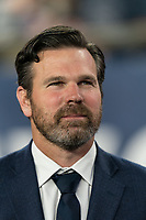 FOXBOROUGH, MA - AUGUST 31: Greg Vanney, head coach, during a game between Toronto FC and New England Revolution at Gillette Stadium on August 31, 2019 in Foxborough, Massachusetts.