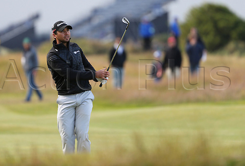 19.07.2015. Old Course, St Andrews, Fife, Scotland. Jason Day of Australia in action on the 17th hole during the third round of the 144th British Open Championship at the Old Course, St Andrews in Fife, Scotland.