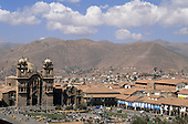 Cusco, Peru. Looking south over the Plaza de Armas.