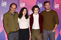 director, Luca Guadagnino, Timothee Chalamet, Esther Garrel &amp; Armie Hammer at the London Film Festival 2017 photocall for the film &quot;Call Me by Your Name&quot; at the Mayfair Hotel, London, UK. <br /> 09 October  2017<br /> Picture: Steve Vas/Featureflash/SilverHub 0208 004 5359 sales@silverhubmedia.com