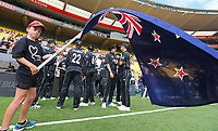 The Blackcaps prepare to enter the field during the third ODI cricket match between the Blackcaps & England at Westpac stadium, Wellington. 3rd March 2018. © Copyright Photo: Grant Down / www.photosport.nz