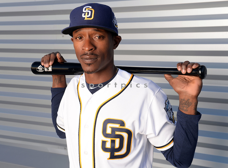 San Diego Padres Melvin Upton Jr. (2) during photo day on February 26, 2016 in Peoria, AZ.