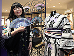 """May 4, 2016, Tokyo, Japan - American fashion designer Anna Sui smiles as she attends the opening ceremony of her brand's special event """"Anna Sui Party"""" at the Isetan department store in Tokyo on Wednesday, May 4, 2016. Isetan celebrated the 20th anniversary of Anna Sui brand's launching in Japan.  (Photo by Yoshio Tsunoda/AFLO) LWX -ytd-"""