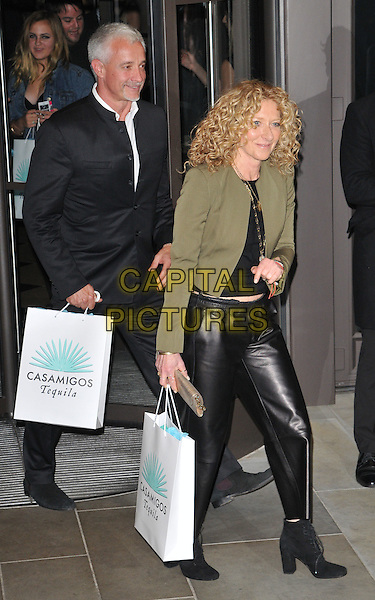 John Gardiner &amp; Kelly Hoppen attend the Cindy Crawford &quot;Becoming&quot; book &amp; Casamigos Tequila launch party, The Beaumont, Balderton Street, London, England, UK, on Thursday 01 October 2015. <br /> CAP/CAN<br /> &copy;Can Nguyen/Capital Pictures