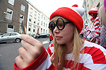 Free Pics     With Compliments<br /> Eleanor Phillips pictured as Wally as Cork City was awash with Wallys on Sunday, 4th June 2011 as a striped and spectacled Where&Otilde;s Wally troop from Cork marched up Patrick&Otilde;s Hill with Jack Wise Street Performance World Champion 2010 to launch the Street Performance World Championship event, which takes place in Fitzgerald Park, Cork City on June 11th and 12th. The Wallys were on hand to sit, stand, salute, sing and do a little dance, not only to remind people what a full on fun day out for all the family the SPWC will be but also to launch the Where&Otilde;s Wally World Record attempt, which takes place in Cork on Sunday, 12th June as part of the event&Otilde;s thrill packed programme. People who wish to participate in the Where&Otilde;s Wally World Record attempt in Cork can buy their costume on www.spwc.ie for &Ucirc;12. Profits from the sales of the Wally costumes go to Africa Aware.<br /> Pic. Brian Arthur/ Press 22.