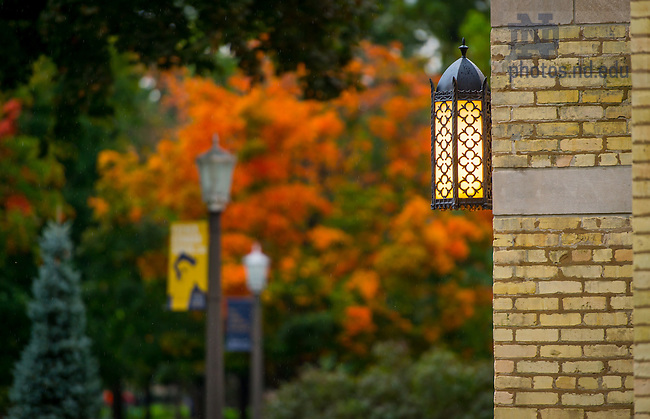 Oct. 2, 2014; Basilica lamp. (Photo by Matt Cashore/University of Notre Dame)