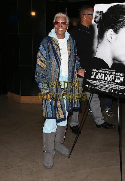 Hollywood, CA - DECEMBER 30: Dionne Warwick, At Screening Of 'Through My Father's Eyes: The Ronda Rousey Story', At The TCL Chinese 6 Theatres In California on December 30, 2016. <br /> CAP/MPI/FS<br /> &copy;FS/MPI/Capital Pictures