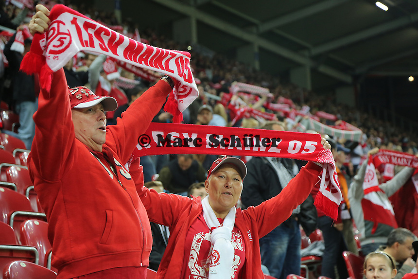 Fans von Mainz 05 - 1. FSV Mainz 05 vs. 1. FC Köln, Coface Arena, 2. Runde DFB-Pokal