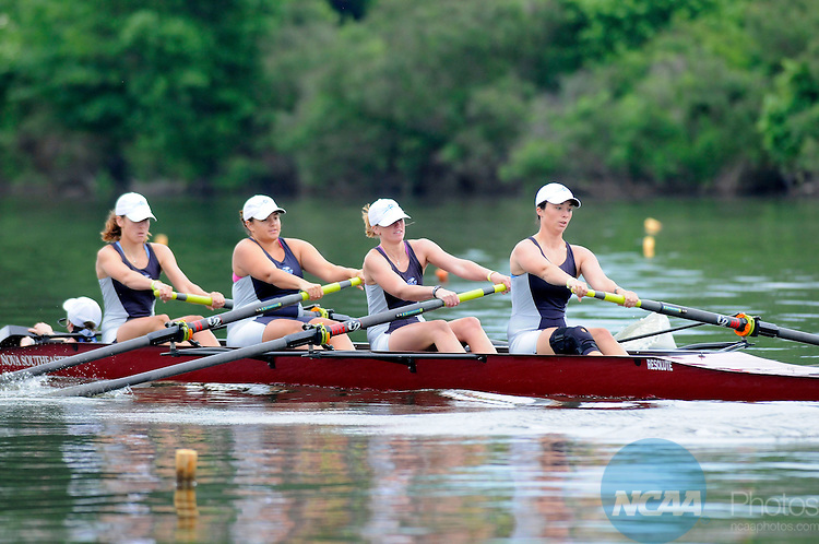 31 MAY 2009:  Nova Southeastern rows to victory in the Fours Grand Final at the NCAA Division II Women's Rowing Championship held at the Cooper River in Camden, NJ. Nova Southeastern won the race with a time of 7:53.64.  Jeff Fusco/NCAA Photos.