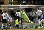 Lee Robinson makes a flying save from Christian Nade