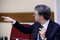 Roma, 18 Maggio 2017<br /> Raffaele Cantone<br /> Il Presidente dell'ANAC, Autorità nazionale anti corruzione, durante l'audizione  in Commissione parlamentare di inchiesta sul sistema di accoglienza, di identificazione ed espulsione, nonché sulle condizioni di trattenimento dei migranti e sulle risorse pubbliche impegna.