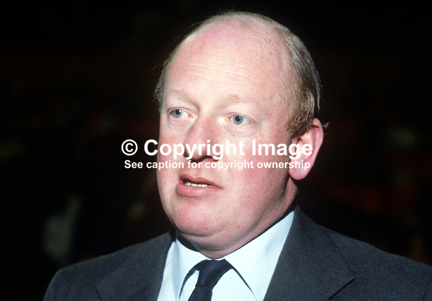 Alastair Goodlad, MP, Conservative Party, UK, Under Secretary of State for Energy, on platform at annual conference, Brighton. 19840162AG2..Copyright Image from Victor Patterson, 54 Dorchester Park, Belfast, UK, BT9 6RJ..Tel: +44 28 9066 1296.Mob: +44 7802 353836.Voicemail +44 20 8816 7153.Skype: victorpattersonbelfast.Email: victorpatterson@me.com.Email: victorpatterson@ireland.com (back-up)..IMPORTANT: If you wish to use this image or any other of my images please go to www.victorpatterson.com and click on the Terms & Conditions. Then contact me by email or phone with the reference number(s) of the image(s) concerned.