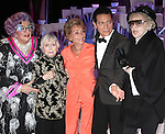 Dame Edna, Celeste Holm, Judge Judy Sheindlin, Michael Feinstein & Elaine Stritch.backstage after the Broadway Opening Finale & Night Curtain Call for ALL ABOUT ME at the Henry Miller Theatre in New York City..March 18, 2010.
